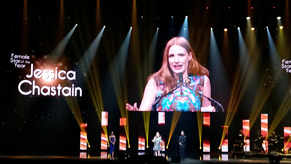 Jessica Chastain accepts Female Star of the Year award. - Photo credit: Judy Thorburn